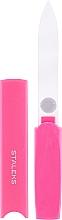 Profumi e cosmetici Lima unghie in vetro con custodia di plastica FBC-13-128, rosa - Staleks
