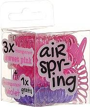 Profumi e cosmetici Elastici per capelli, rosa+viola, 4pz - Hair Springs