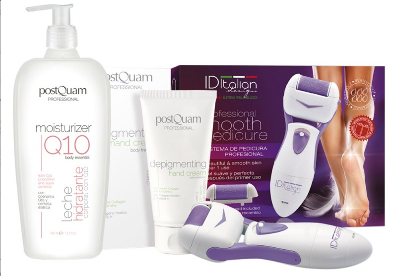 Set - Postquam Moisturizer Q10 Lot (b/milk/400ml+h/cr/75ml+foot/electric/lima) — foto N1