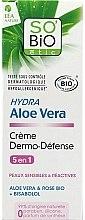 """Profumi e cosmetici Crema viso protettiva """"Aloe Vera"""" - So'Bio Etic Hydra Aloe Vera Creme"""