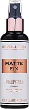 Profumi e cosmetici Spray fissante trucco - Makeup Revolution Matte Fix Oil Control Fixing Spray