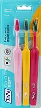 Profumi e cosmetici Set spazzolini da denti, 3 pz, lampone + giallo + rosa - TePe Colour Soft