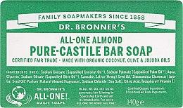 """Profumi e cosmetici Sapone """"Mandorle"""" - Dr. Bronner's Pure Castile Bar Soap Almond"""