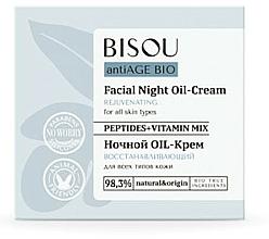 """Profumi e cosmetici Crema da notte """"Rivitalizzante"""" - Bisou AntiAge Bio Facial Night Oil-Cream"""