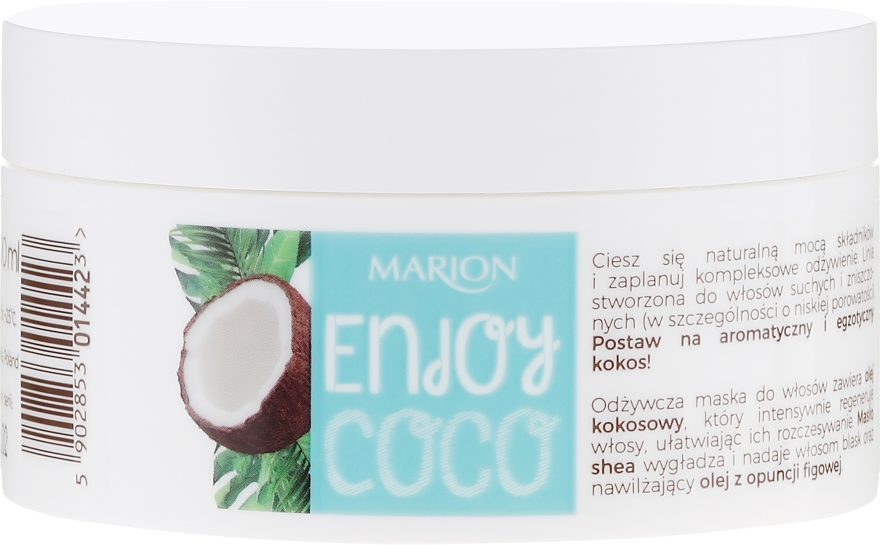 Maschera capelli nutriente all'olio di cocco - Marion Enjoy Coco Nourishing Hair Mask — foto N2