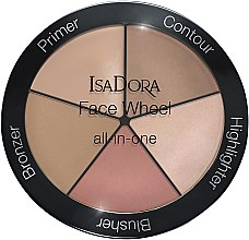 Profumi e cosmetici Palette trucco 5 in 1 - IsaDora Face Wheel All-In-One
