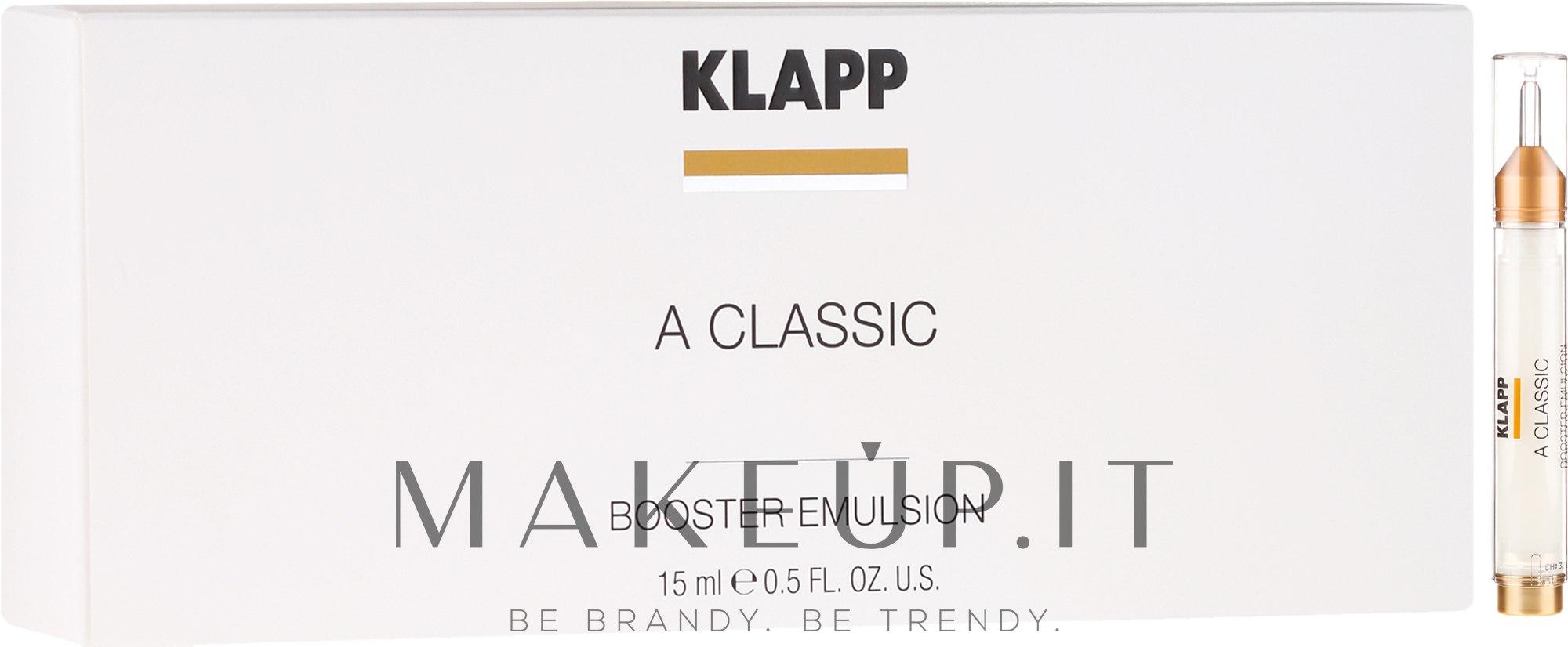 "Emulsione booster ""Vitamina A"" - Klapp A Classic Booster Emulsion — foto 15 ml"