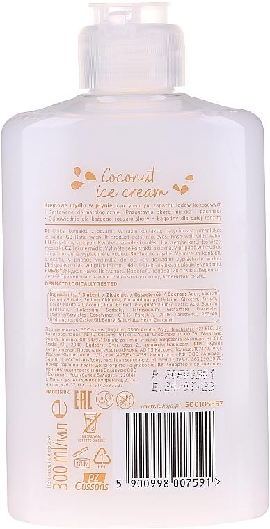 Sapone liquido al gelato al cocco - Luksja Coconut Ice Cream Hand Wash (senza pompa) — foto N2