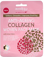 Profumi e cosmetici Maschera viso in tessuto - Derma V10 Woven Face Mask Anti Ageing Collagen