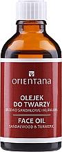 """Profumi e cosmetici Olio viso """"Sandalo e curcuma"""" - Orientana Face Oil Sandalwood & Turmeric"""