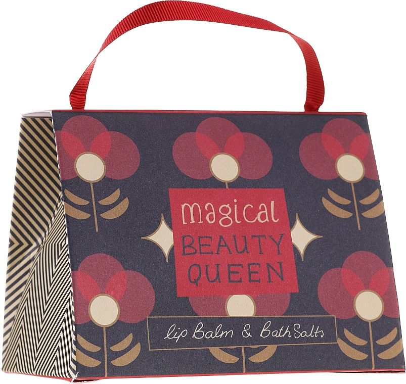 Set - Bath House Barefoot & Beautiful Magical Beauty Queen (lip/balm/15g + b/salt/100g) — foto N1