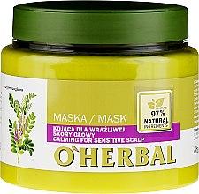 Profumi e cosmetici Maschera lenitiva alla liquirizia per cuoio capelluto sensibile - O'Herbal