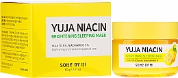 Profumi e cosmetici Maschera viso livellante da notte - Some By Mi Yuja Niacin Brightening Sleeping