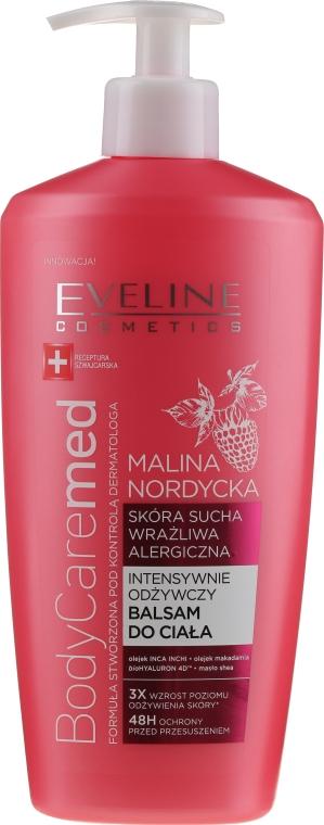 Balsamo corpo intensamente nutriente per pelli secche, sensibili e allergiche, con estratto di lampone nordico - Eveline Cosmetics Body Caremed+ Balm