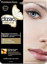 "Profumi e cosmetici Botto-maschera per viso, collo e palpebre ""Luxury of bio-gold"" - Dizao"