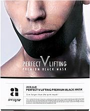 Profumi e cosmetici Maschera viso rassodante - Avajar Perfect V Lifting Premium Black Mask
