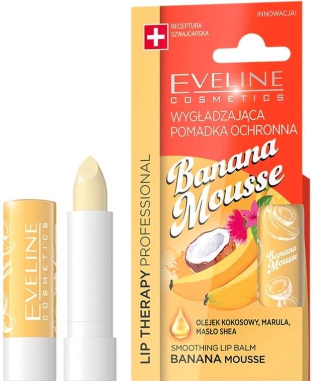 "Balsamo labbra ""Mousse di banana"" - Eveline Cosmetics Lip Therapy Smoothing Balm Banana Mousse"