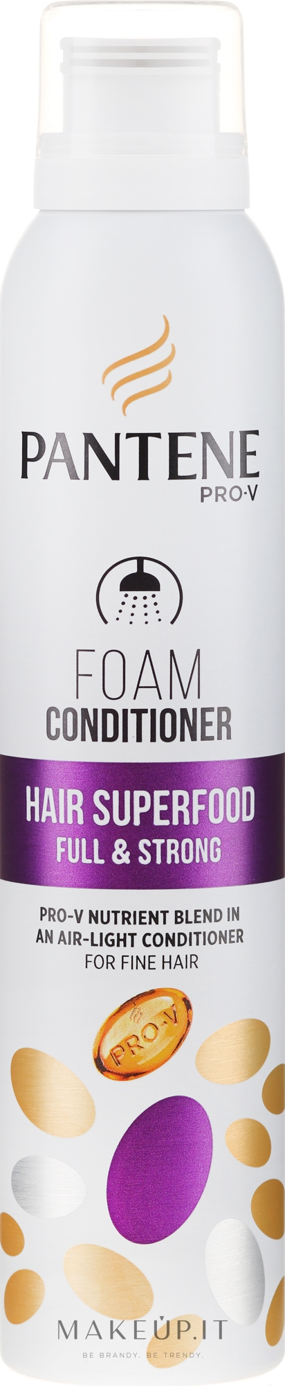 Condizionante capelli sottili - Pantene Pro-V Superfood Foam Conditioner — foto 180 ml