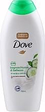 """Profumi e cosmetici Bagnoschiuma di bellezza """"Tè verde e cetriolo"""" - Dove Fresh Touch Shower Gel"""