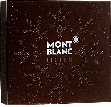Profumi e cosmetici Montblanc Legend Night - Set (edp/100ml + ash/balm/100ml + sh/gel/100ml)