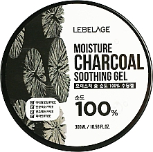 Profumi e cosmetici Gel idratante con carbone - Lebelage Moisture Charcoal 100% Soothing Gel