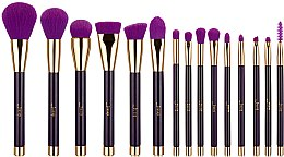 Profumi e cosmetici Set pennelli trucco, T114, 15 pezzi - Jessup