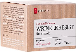 Profumi e cosmetici Maschera viso anti-età - Phenome Wrinkle Resist Face Mask