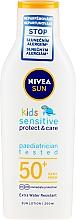 Profumi e cosmetici Lozione solare per bambini - Nivea Sun Kids Pure & Sensitive Sun Lotion SPF50+
