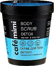 """Profumi e cosmetici Scrub corpo """"Detox, sale marino e argilla blu"""" - Cafe Mimi Body Scrub Detox"""