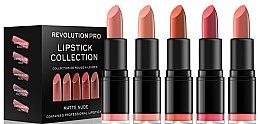 Profumi e cosmetici Set di 5 rossetti - Revolution Pro 5 Lipstick Collection Matte Nude