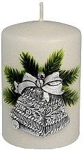 """Profumi e cosmetici Candela decorativa """"Campana di Natale in argento"""", 7x10 cm - Artman Christmas Bell Candle"""