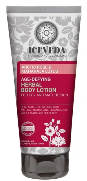 "Balsamo corpo alle erbe, anti-età ""Rosa artica e loto"" - Natura Siberica Iceveda Arctic Rose&Maharaja Lotus Age-Defying Herbal Body Lotion"