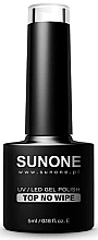 Profumi e cosmetici Top per smalto gel senza strato appiccicoso - Sunone UV/LED Gel Polish Top No Wipe