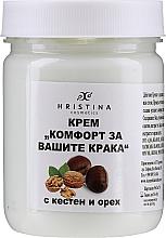 """Profumi e cosmetici Crema """"Comfort per i tuoi piedi"""" con castagna e noce - Hristina Cosmetics"""