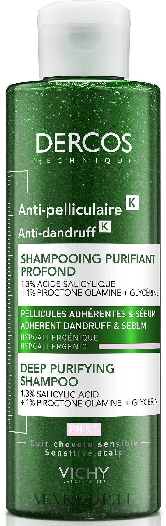 Shampoo anti forfora - Vichy Dercos Micro Peel Anti-Dandruff Scrub Shampoo — foto 250 ml