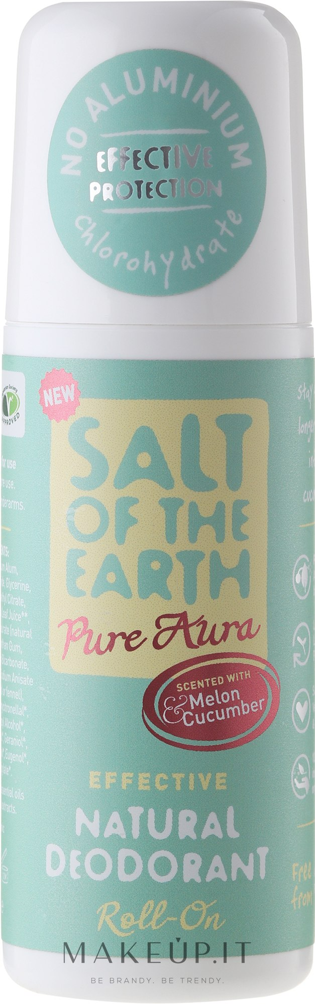Deodorante roll-on naturale - Salt of the Earth Melon & Cucumber Natural Roll-On Deodorant — foto 75 ml