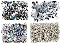 Profumi e cosmetici Set glitter, argento - Peggy Sage Nail Glitter Mini Kit Argent