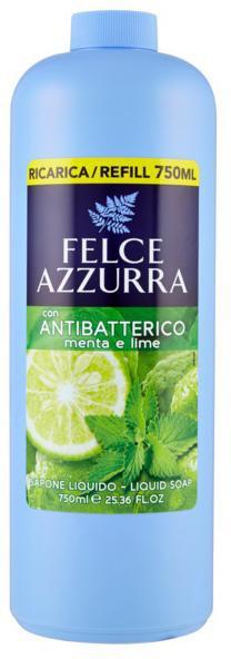 Sapone liquido - Felce Azzurra Antibacterial Mint & Lime (ricarica)