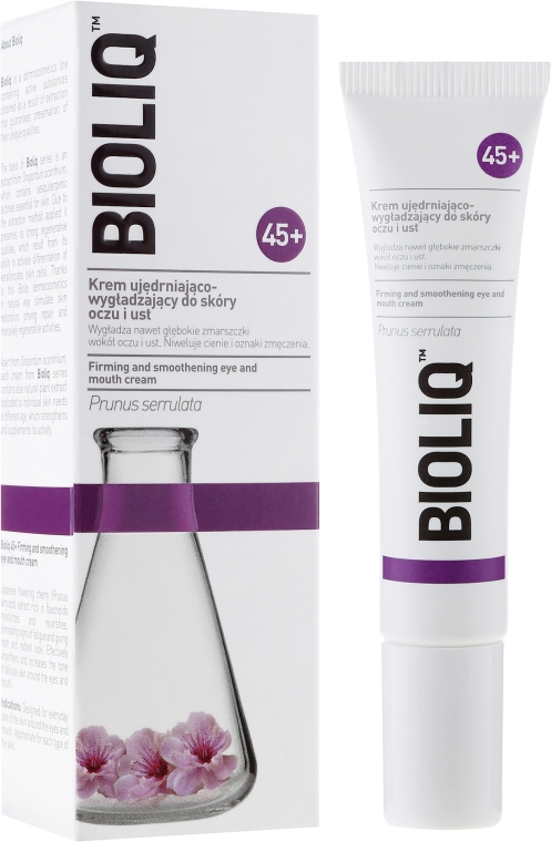 Crema contorno occhi e labbra levigante - Bioliq 45+ Firming And Smoothening Eye And Mouth Cream