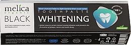 Profumi e cosmetici Dentifricio sbiancante con carbone nero - Melica Organic Toothpaste Whitening Black