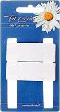 """Profumi e cosmetici Fermacapelli """"White Collection"""", forma rettangolare, bianca, 2 pz - Top Choice"""