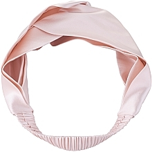 "Profumi e cosmetici Fascia capelli, in seta naturale, rosa cipria, ""Twist"" - Makeup Hairband Twist Powder"