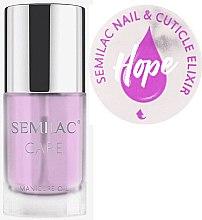 Profumi e cosmetici Olio-elisir per unghie e cuticole con aroma di gelsomino e giglio - Semilac Care Nail & Cuticle Elixir Hope