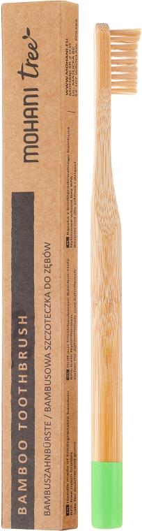 Spazzolino da denti in bamboo, morbido, verde - Mohani Toothbrush