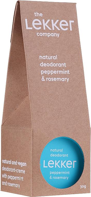 Crema deodorante alla menta e rosmarino - The Lekker Company Natural Deodorant