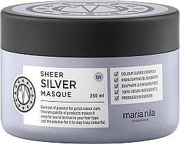 Profumi e cosmetici Maschera antigiallo dei capelli colorati - Maria Nila Sheer Silver Masque