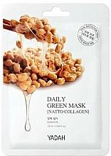 """Profumi e cosmetici Maschera quotidiana """"Collagene Natto"""" - Yadah Daily Green Mask Natto Collagen"""