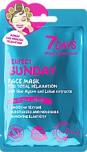 """Profumi e cosmetici Maschera viso rilassante """"Perfect Sunday"""" - 7 Days Perfect Sunday"""