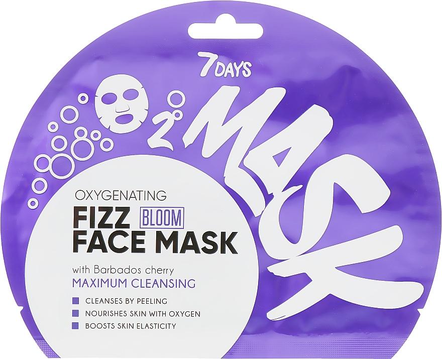 Maschera viso effervescente all'ossigeno - 7 Days Bloom Maximum Cleansing Sheet Mask
