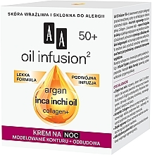 Crema da notte snellente anti-rughe - AA Oil Infusion Modeling Night Cream From Wrinkles 50+ — foto N2